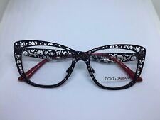 DOLCE e GABBANA DG1287 occhiali da vista donna metal woman black flower glasses