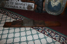 Antique Primitive Americana Boot Scraper Bed Of Nails-Country Decor Tool-Wood