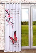digital bedruckter Schlaufenschal Butterfly Vorhang schal Fuchsia BXH 120x245cm