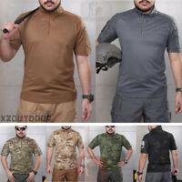 Army Military Tacitcal Men's T-Shirt Short Sleeve Combat Shirt Casual Camouflage
