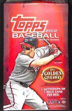 2012 Topps Update Baseball Sealed Hobby Box