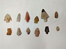 Lot Of 12-Vintage Native American Arrowheads
