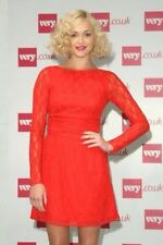 Fearne Cotton Red Lace Button Back Dress  UK 10