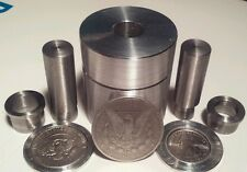 "Coin Ring Center Punch. 1.5"" kit. With 5/8"" and 1/2"" Punches."