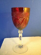 """Antique/ Vintage Ruby Glass Goblets  8"""" Tall"""