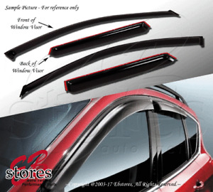 Vent Shade Window Visors 4DR Chevrolet Chevy Avalanche 02-06 2002-2005 2006 4pcs