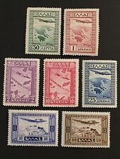 GREECE 1933 AIRPOST-GOVERNMENT ISSUE complete set  Vlastos A15-A21 CV $264 MNH