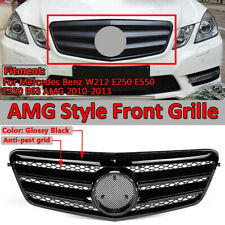Gloss Black Front Grill For Mercedes Benz W212 E250 E550 E350 E63 AMG 2010-2013