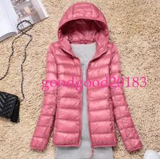 ladies white duck down hooded slim outdoor jacket warm winter overcoat casual Sz