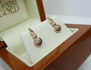 Clogau Gold 9ct Yellow & Rose Gold Cadar Idris Stud Earrings Peridot & Diamond