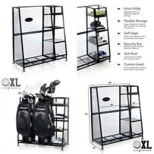 Golf Organizer 2 Bags Extra Large Golfing Equipment Rack Storage Holder Dual