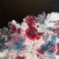 ORIGINAL Abstract Acrylic Home Decor on Canvas Karen Warren art KT Artistry