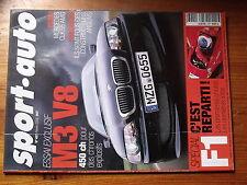 $$u Revue sport auto N°457 F1 Hakkinen  Barrichello  equipement  BMW M3 V8