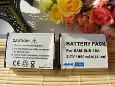 BATTERY TWO (2) RECHARGEABLE for SAMSUNG SLB-10A WB150F WB690 DIGITAL CAMERA