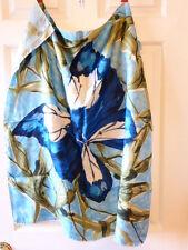 "Vintage Silk Scarf 30""x30"" Nina Ricci Blue Butterfly France EUC"