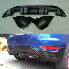 Unpainted Rear Bumper Diffuser Splitter for Ford Fiesta MK7 Hatcback 2008-12