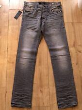 Replay Men's Grey Waitom Aged Regular Slim Jeans 29W 32L RRP£140 BNWT