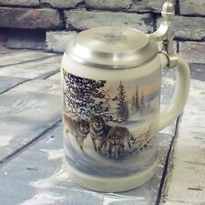 Domex Lidded Stein Wolves Made In Germany Wolf Design