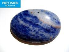 Sodalite Amulet Gemstone Thumb Palm Chakra Healing Therapy Worry Stone Cabochon