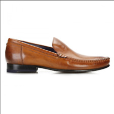 Ted Baker Men's Simeen 3 Hi Shine Tan Slip Ons Loafers Smart Shoes