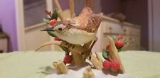 Lenox 1990 'Marsh Wren' bird figurine Fine Porcelain berry snowbird holly adorab