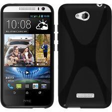 Coque en Silicone HTC Desire 616 - X-Style noir + films de protection