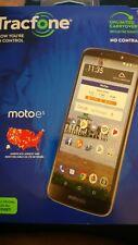 Motorola MOTO e5 Tracfone 4G LTE Smartphone, SIM card, Car Charger