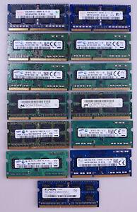 Lot 13 Ram DDR3 Samsung Elpida SKhynix Micron non testé