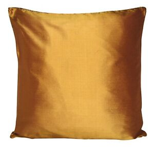 Designers Guild Pure Silk Dark Caramel Plain Cushion Cover