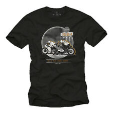 Custom Cafe Racer Mens T Shirt With Cb500 - Short Sleeve Motorcycle Biker Tee M