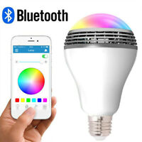 RGB Color Bulb Light E27 Bluetooth Control Smart Music Audio Speaker Lamps  S8