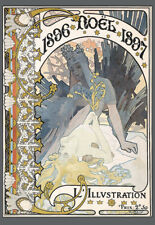 1897 Alphonse Mucha NOEL Christmas Deco Art Poster Print