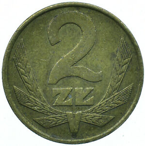 COIN / POLAND / 2 ZLOTYCH 1976 BEAUTIFUL COLLECTIBLE  #WT31579