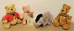 Winnie The Pooh RARE COLLECTOR'S SET Hermann Teddy Miniatures FULL SET OF 4