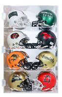 1:2 Scale Mini Football Baseball Helmet Display Case Stand, UV Protection