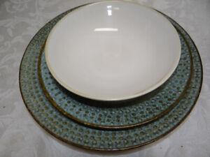 Pier 1 Stoneware China Set Allison Dinner Plate Cereal Bowl Salad Plate (3 piece