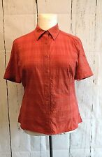 Checked Collared Short Sleeve Fitted Tops & Shirts for Women