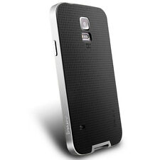 Samsung S5 Cover Case with PC surround Silver