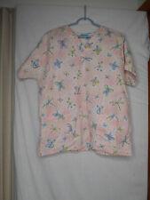 Pink Dots Dragonfly Scrub Top Medical Uniform HQ Basics