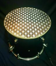 Upcycled Floor Tom Drum Coffee/Side Table with storage inside