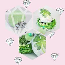 Shamrock easter fillable surprise egg, green home decor easter gift idea for her