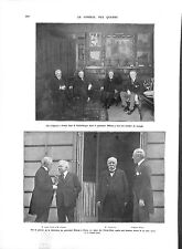 WWI Conseil des Quatre President Wilson Lloyd George & Clemenceau A ILLUSTRATION