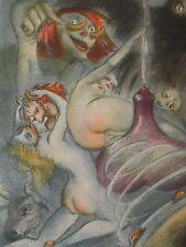 GRAVURE LOUIS ICART érotique curiosa  1936 gravée sur cuivre  RABELAIS