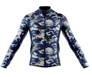 Tactical Camouflage USA Novelty Cycling Jersey Long Sleeve