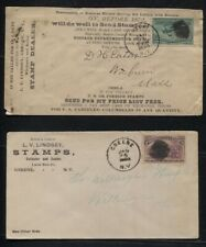 1893/1894 Covers Sc #231 & 232 LV Lindsay Stamp Dealer, Both Advertising Covers