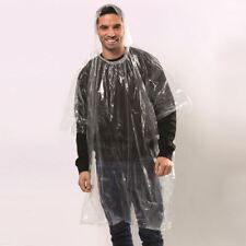 Emergency Hooded plastic poncho Festival Waterproof Raincoat Disposable Camping