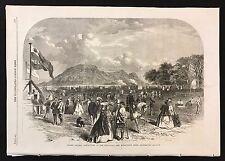 1862 Newspaper Print Edinburgh & Midlothian Rifle Association Annual Competition