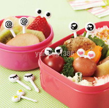 Cute 10pc Eye Mini Food Fruit Picks Kid Forks Bento Lunch Box Tool Tableware UK