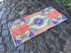 Vintage doormats, Turkish small rug, Hand-knotted wool rug,Carpet | 1,3 x 2,8 ft