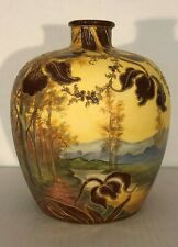 Royal Scenic Vase With Orchid Decoration MINT!